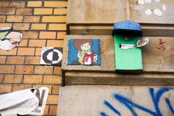 Little Lucy and her cat - Berlin Street Art