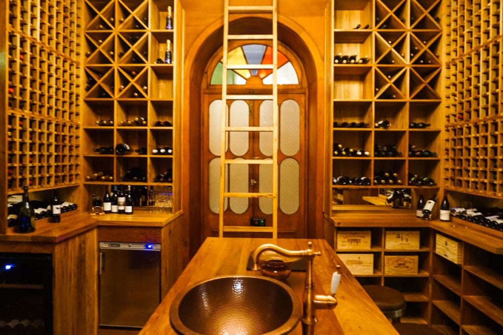 The wine cellar at Le Chateau, Heritage Le Telfair, Mauritius
