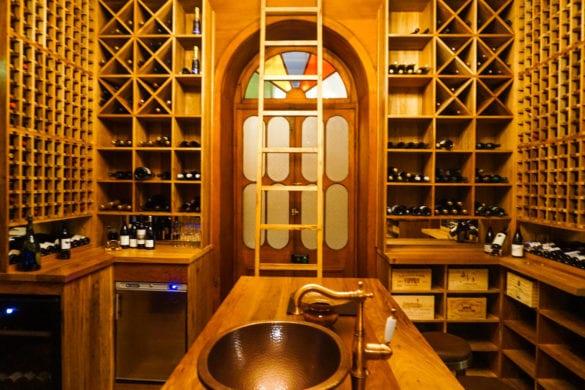 The wine cellar at Le Chateau, Heritage Le Telfair, Mauritius