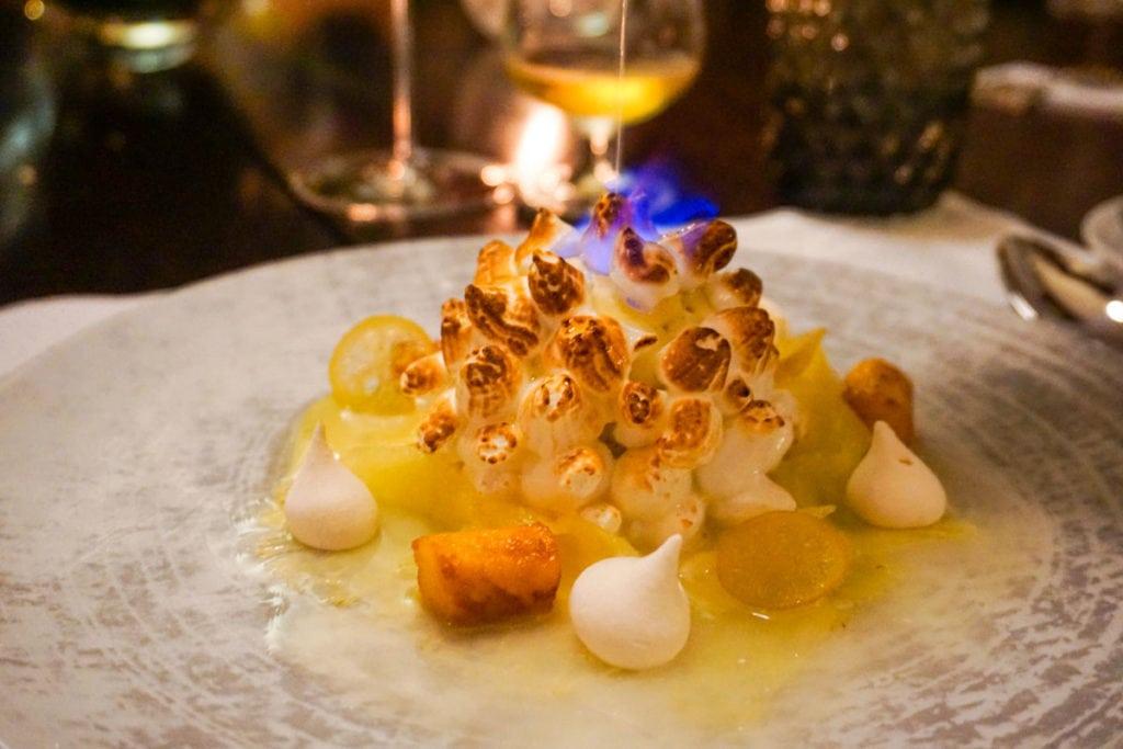 Delicious desserts at Le Chateau, Heritage Le Telfair, Mauritius