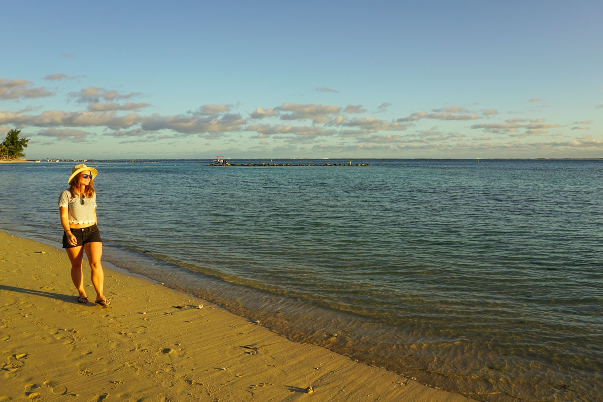Sunset time at Heritage Le Telfair, Mauritius