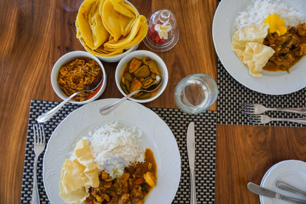 Curry I made at my cooking class at Heritage Le Telfair, Mauritius