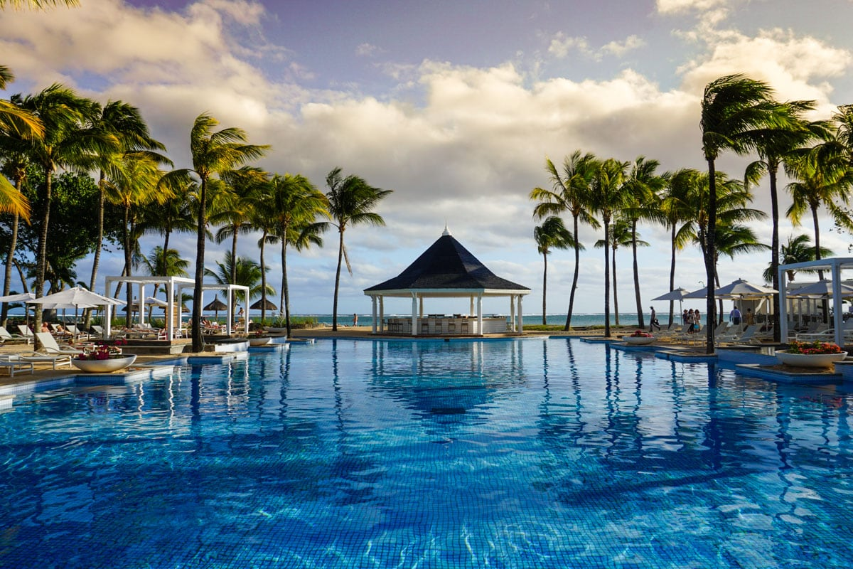 Pool views at Heritage Le Telfair Mauritius