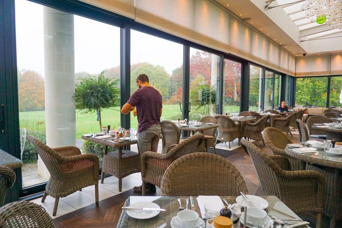 The beautiful Orangerie at Hotel Du Vin Wimbledon