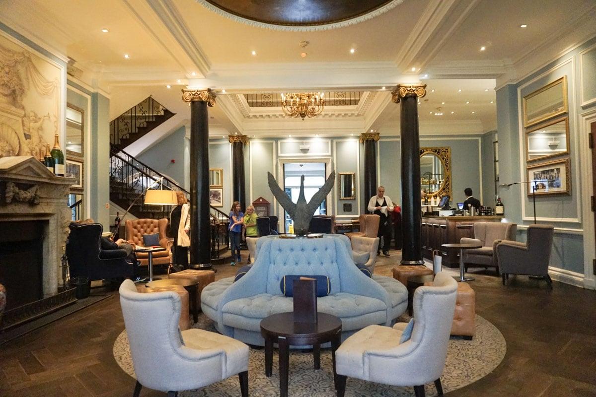 The beautiful lounge of Hotel Du Vin Wimbledon