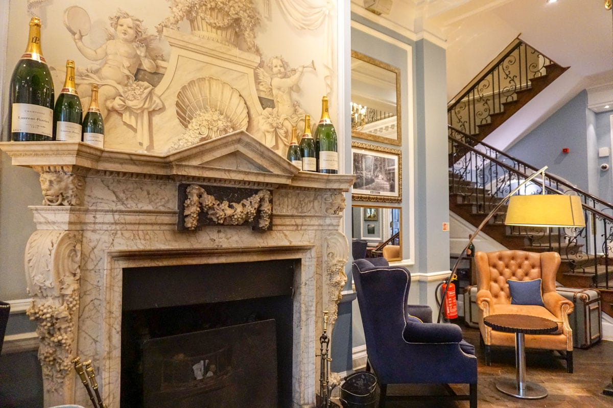 Extravagant details in the lounge area at Hotel Du Vin Wimbledon