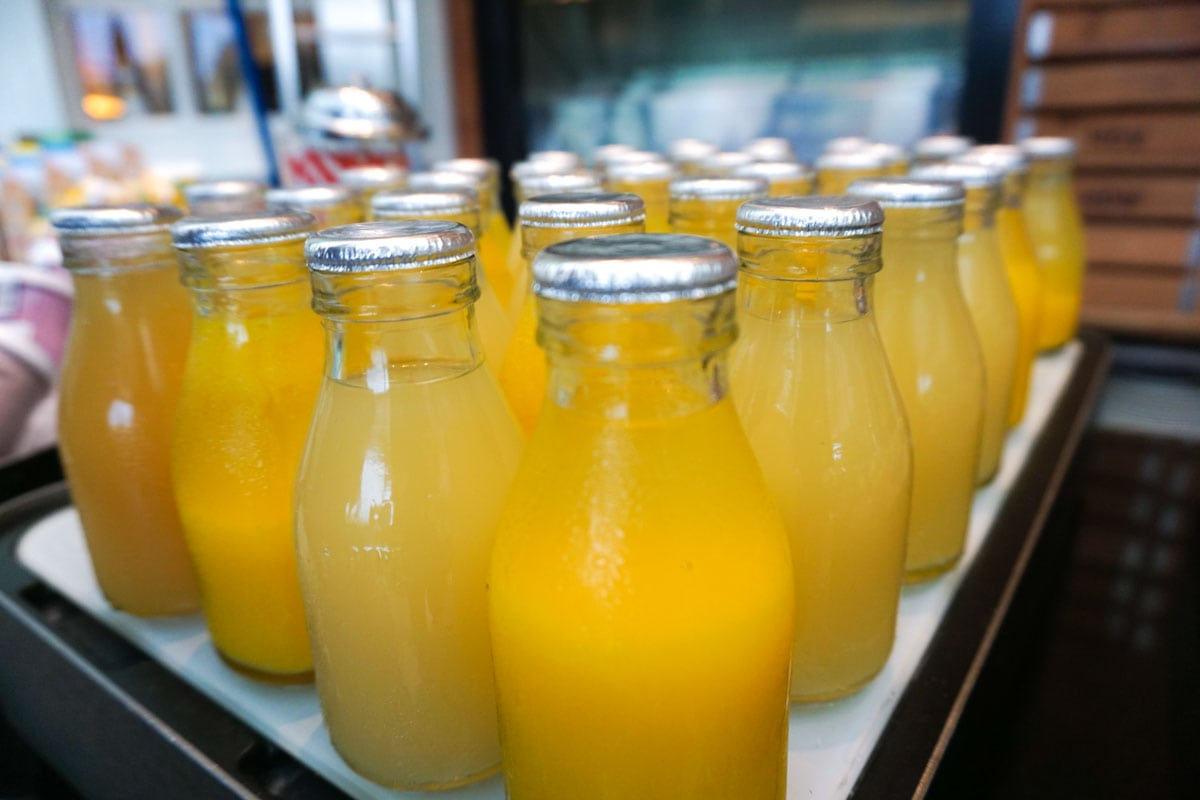 Fresh juices at Hotel Du Vin Wimbledon