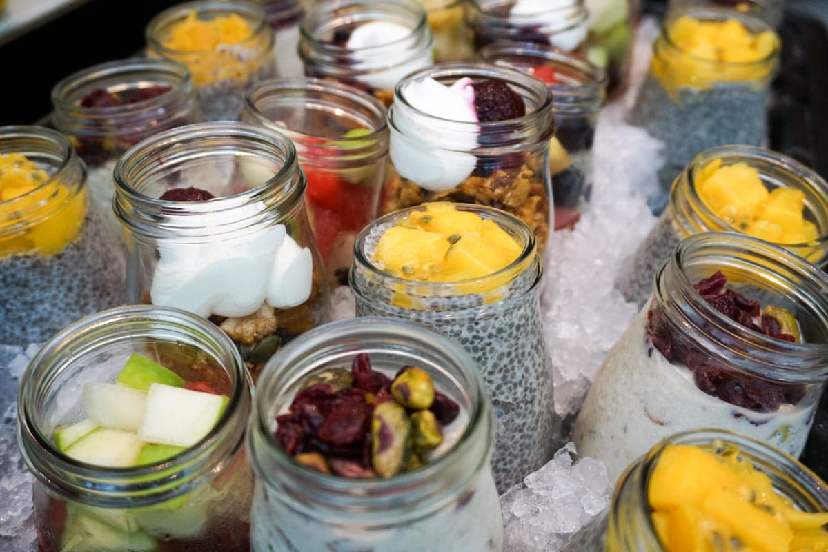 Breakfast pots at Hotel Du Vin Wimbledon