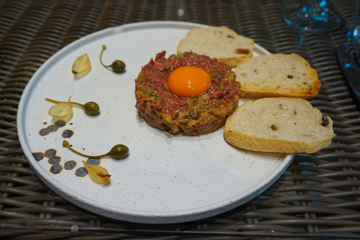 Steak tartare at Hotel Du Vin Wimbledon