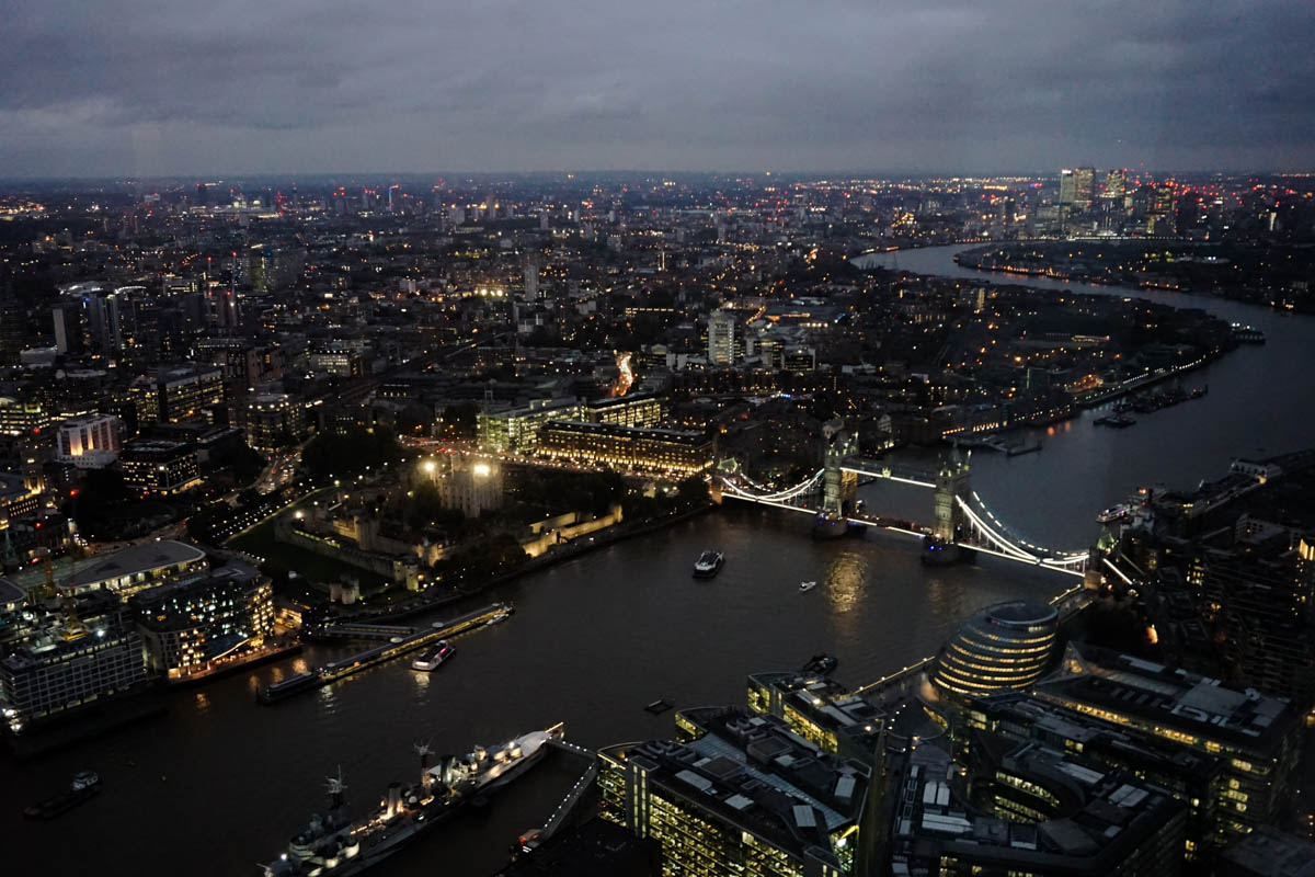 Incredible views of London from The View From The Shard