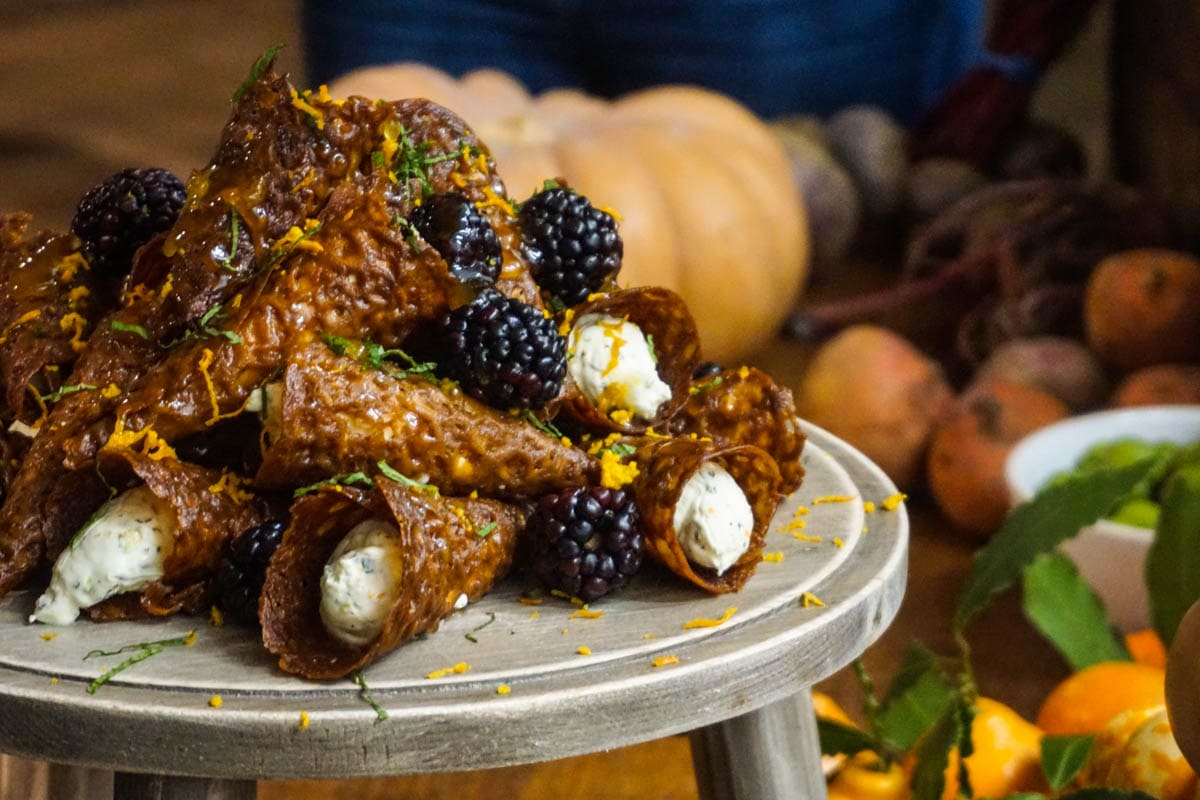 Brandy snaps at Bill's special autumn supper club
