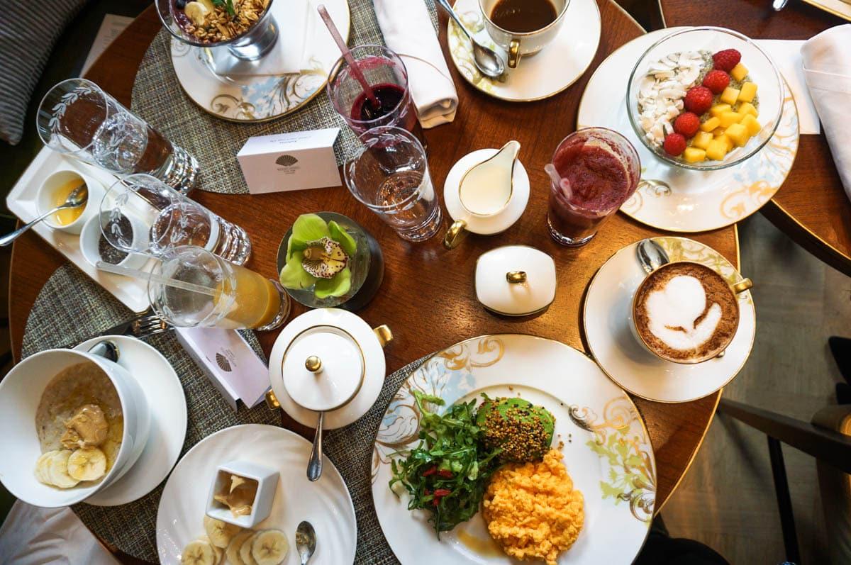 Breakfast at the Mandarin Oriental, London
