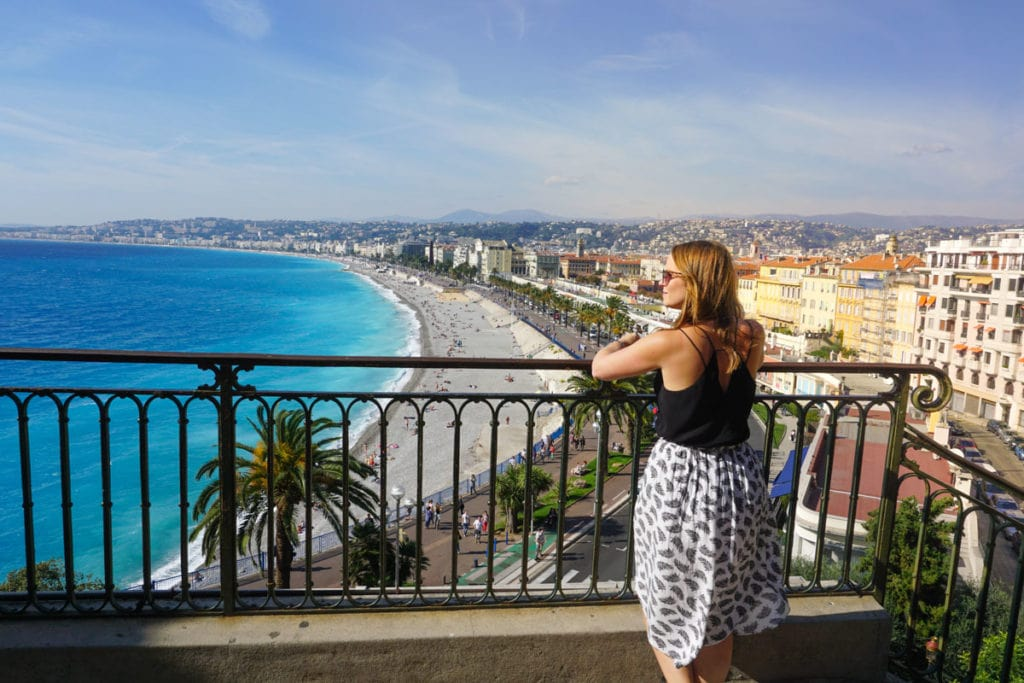 Enjoying the views in Nice