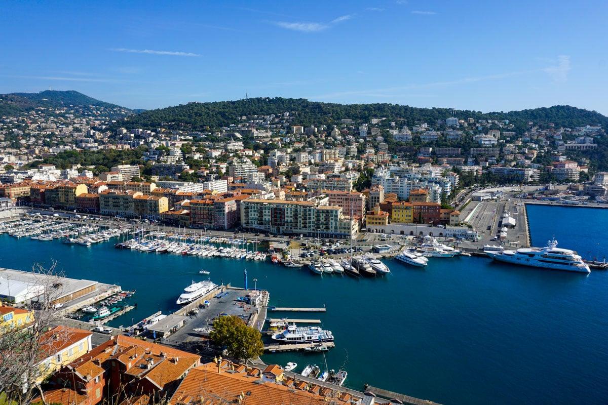 Views of the port from Parc De La Colline Du Chateau