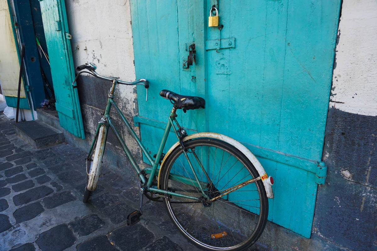 Bicycle in Port Louis, Mauritius