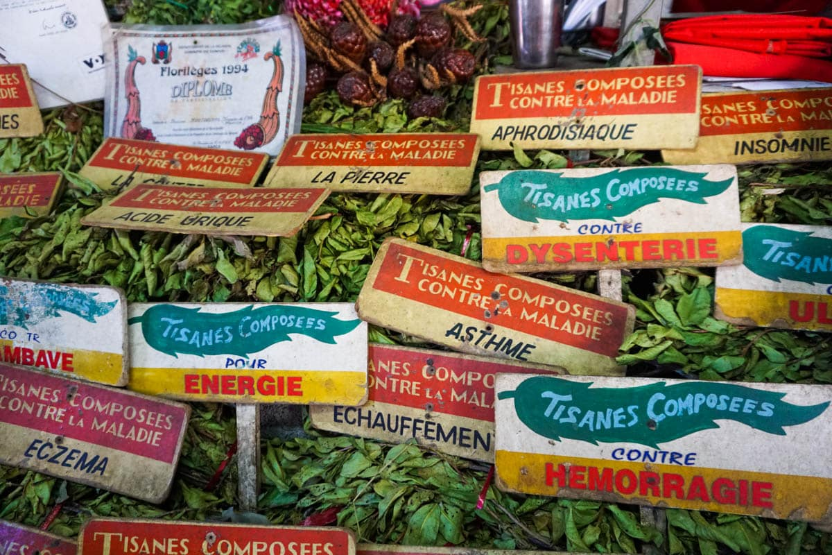 Tea for sale in Port Louis Market, Mauritius