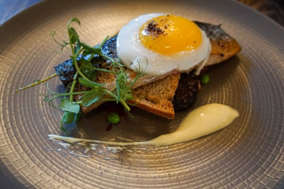Mackerel and duck egg at Topes Restaurant, Rochester