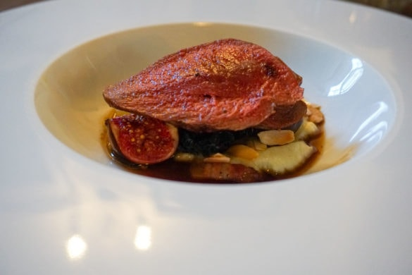 Pigeon with figs at Topes Restaurant, Rochester