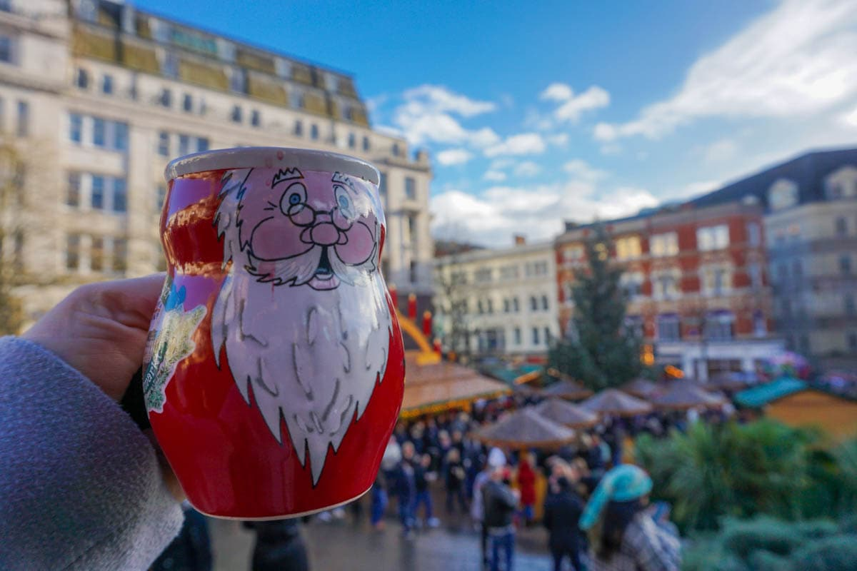Gluhwein time at Birmingham Christmas Market
