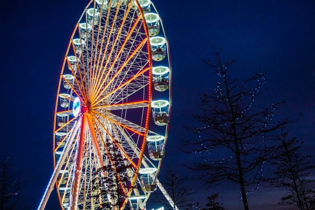 Christmas wheel in Birmingham