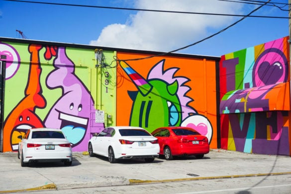 More colourful art near the Wynwood Walls, Miami