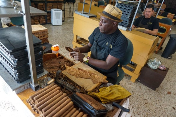 Cigar roller in Little Havana, Miami