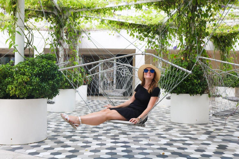 Enjoying the swings in Miami Design District