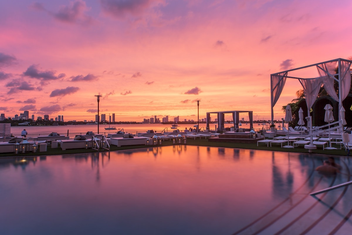 Sunset views from Mondrian South Beach, Miami (Photo: Mondrian)
