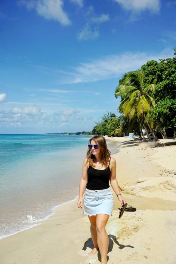 Enjoying the beaches in Barbados
