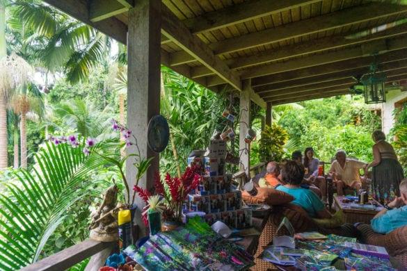 Lounge area at Hunte's Gardens, Barbados