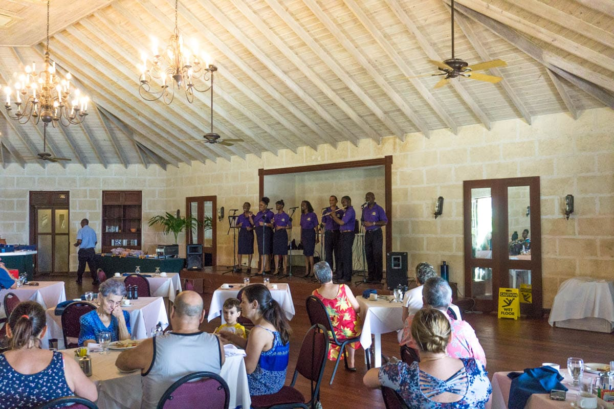 Gospel Breakfast at The Crane, Barbados