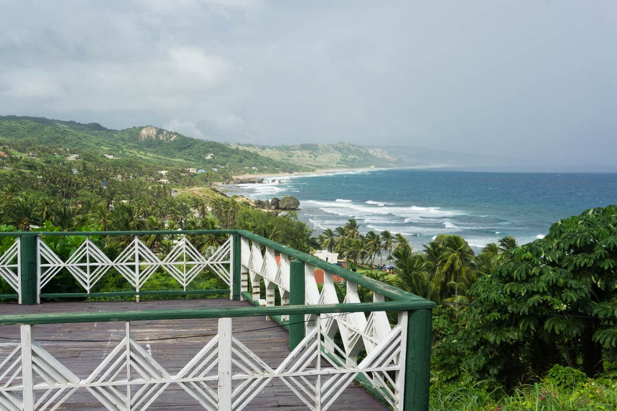 Taking in the views of East Barbados on our island safari