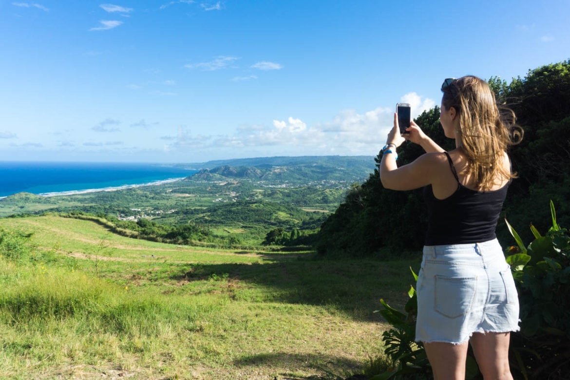 Beautiful views at Cherry Tree Hill, Barbados