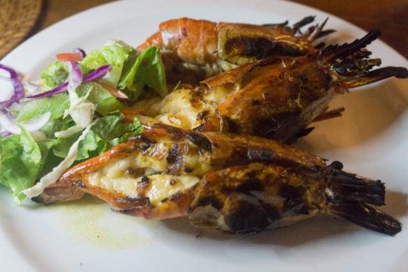 Shrimp at The Fishpot, Barbados