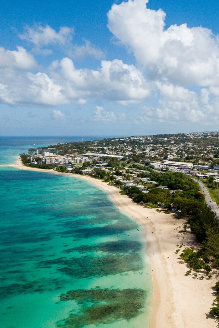 Coastline in Barbados, Caribbean