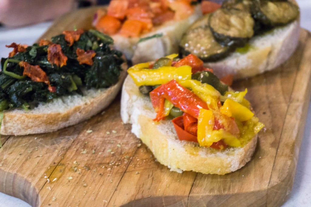 Bruschetta at Rustico Restaurant, Hastings