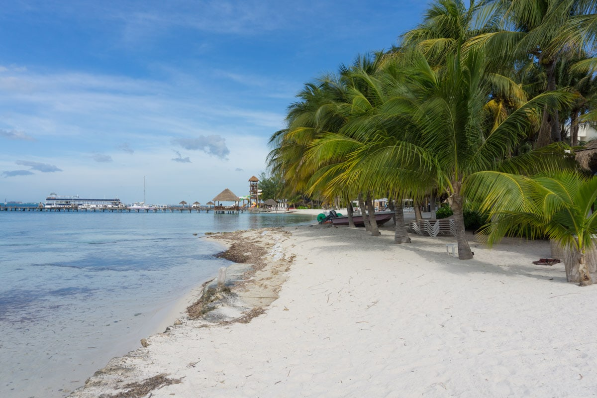 Paradise beaches on Isla Mujeres, Mexico