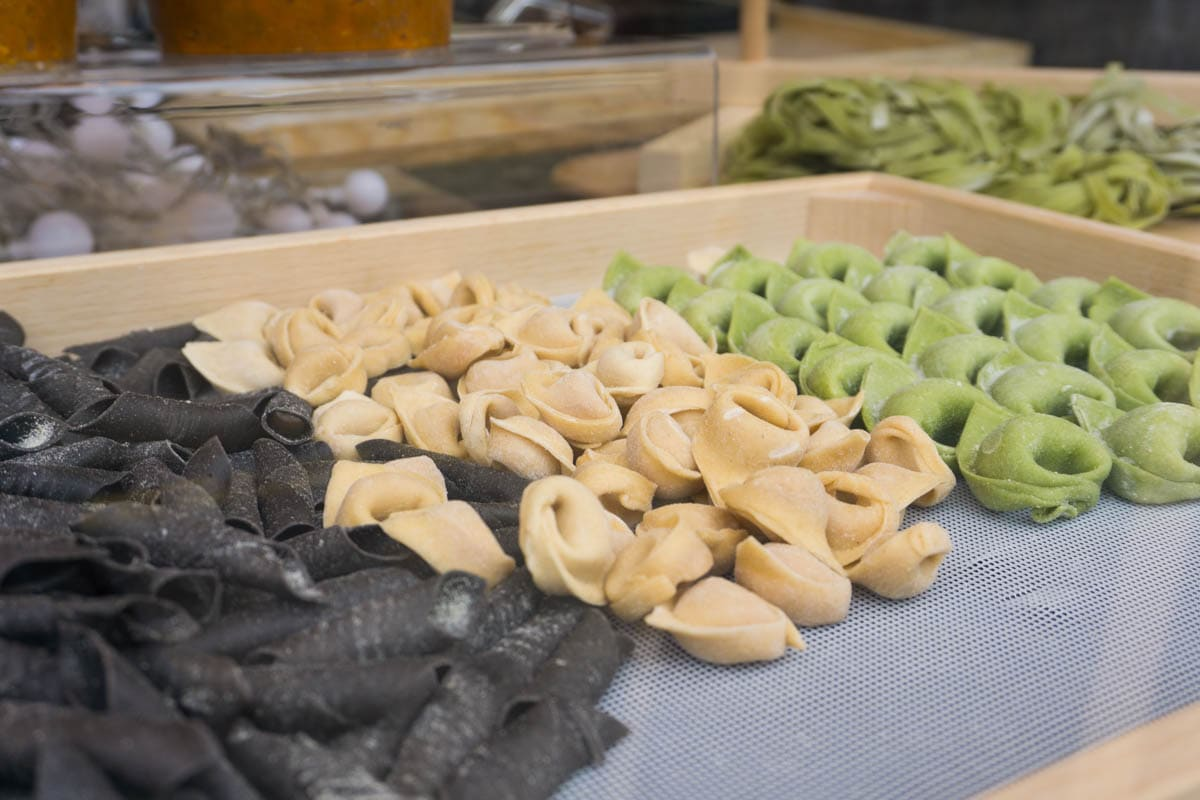 Fresh pasta at St Albans Market