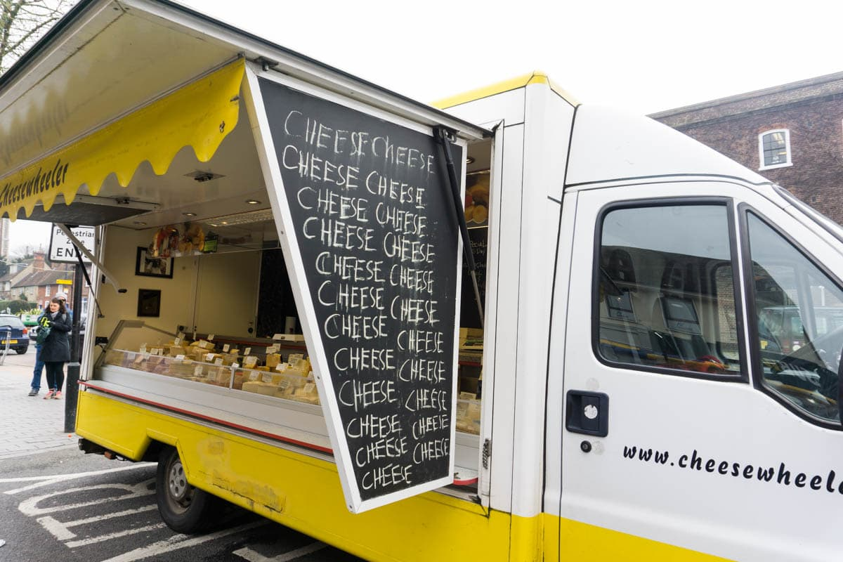 Cheese van in St Albans Market