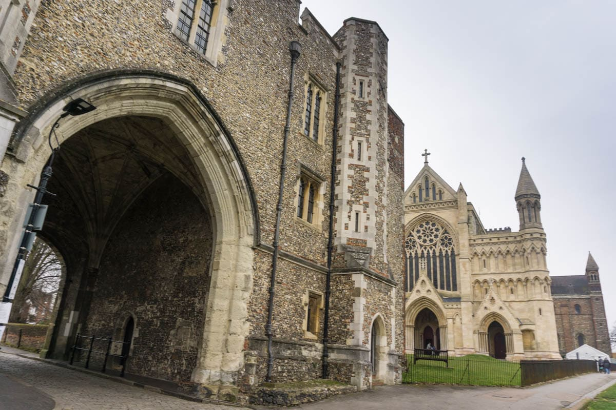 The Abbey Gate and St Albans Cathedral