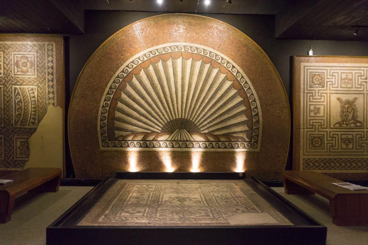 Huge mosaics at Verulamium Museum, St Albans