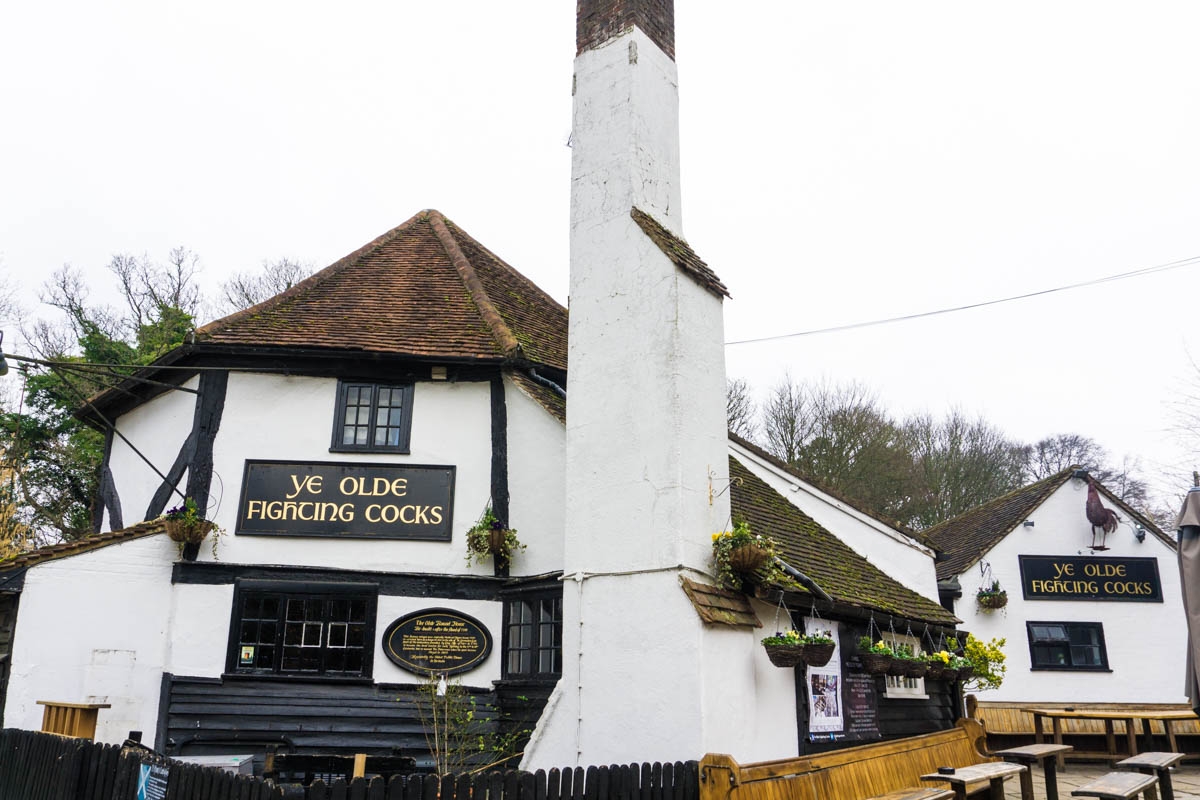 Ye Olde Fighting Cocks pub in St Albans