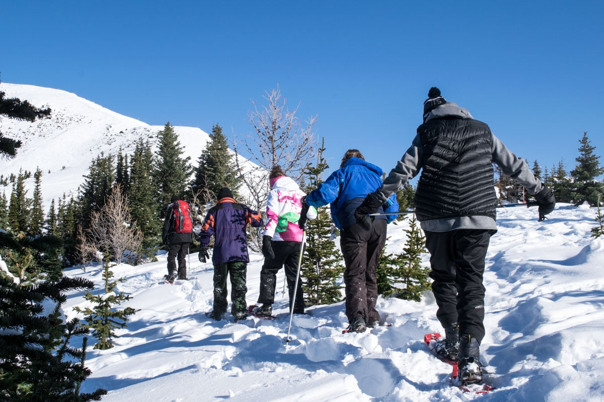 Snowshoeing at Lake Louise Ski Resort, Alberta
