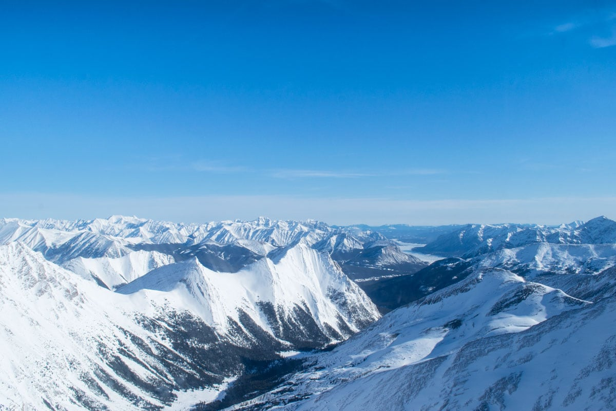 Views of the Canadian Rockies from helicopter tour