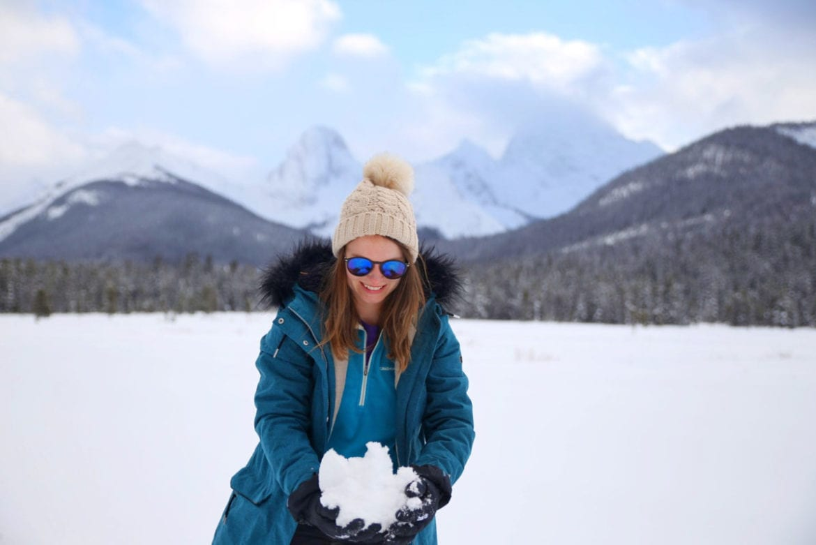 Enjoying the snowy landscapes in Canada