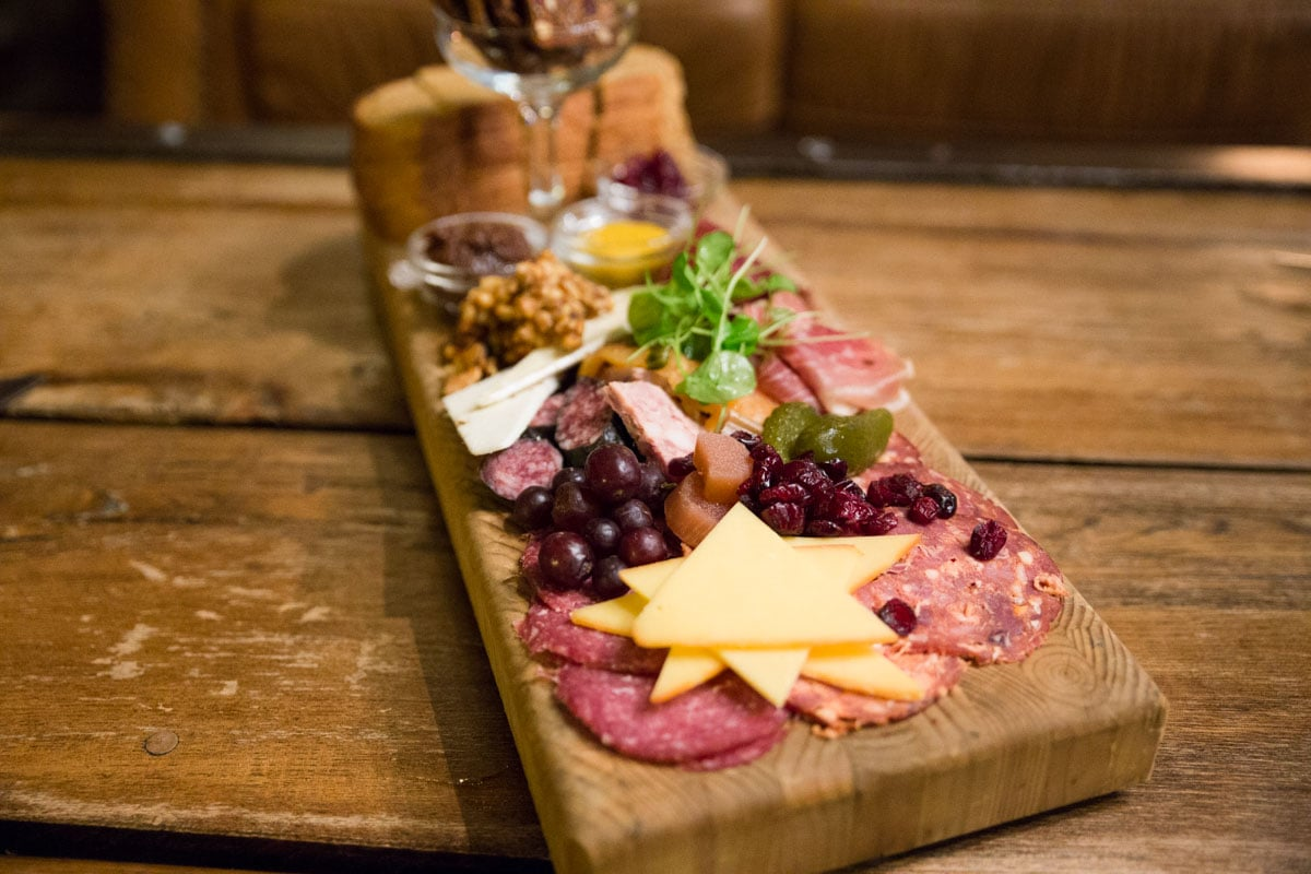 Charcuterie at Storm Mountain Lodge, Alberta