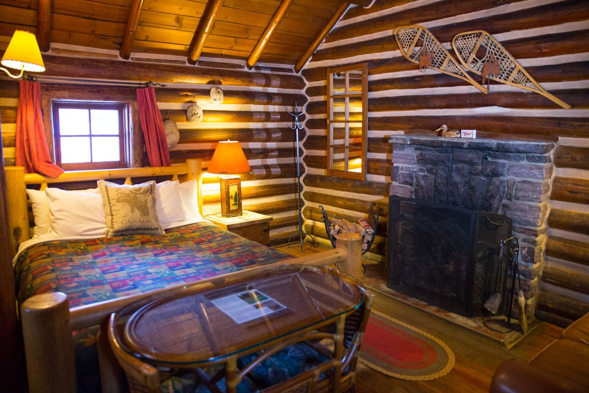 Our log cabin at Storm Mountain Lodge, Alberta
