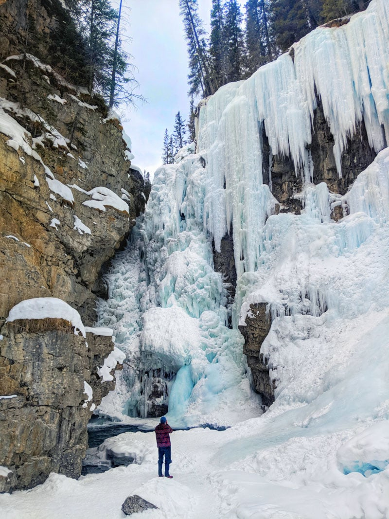 The stunning Upper Falls at Johnston Canyon, Alberta