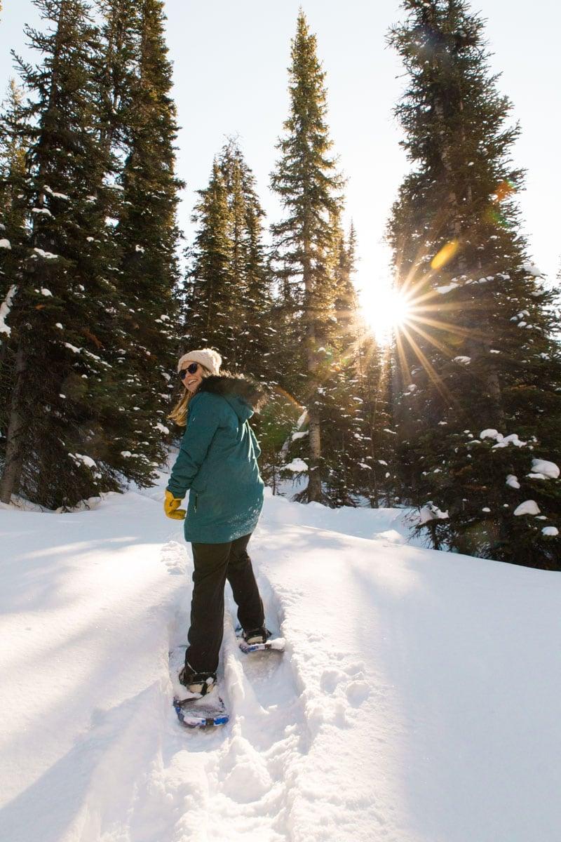 Snowshoeing in Alberta, Canada