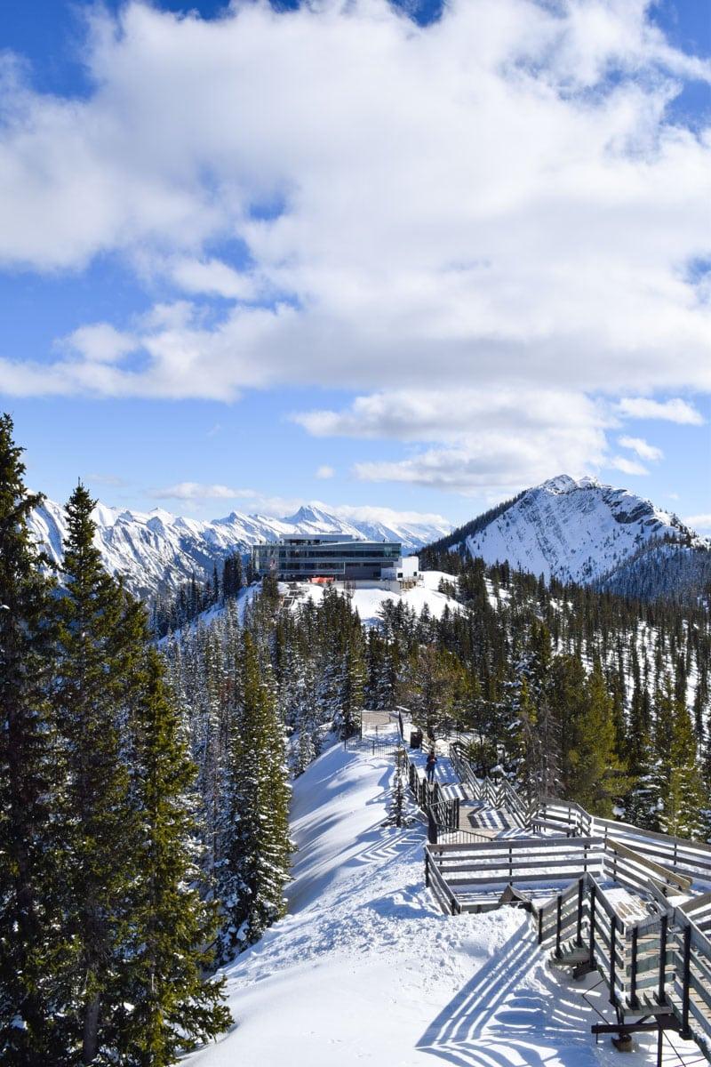 Vues incroyables depuis les passerelles depuis la télécabine de Banff, Alberta
